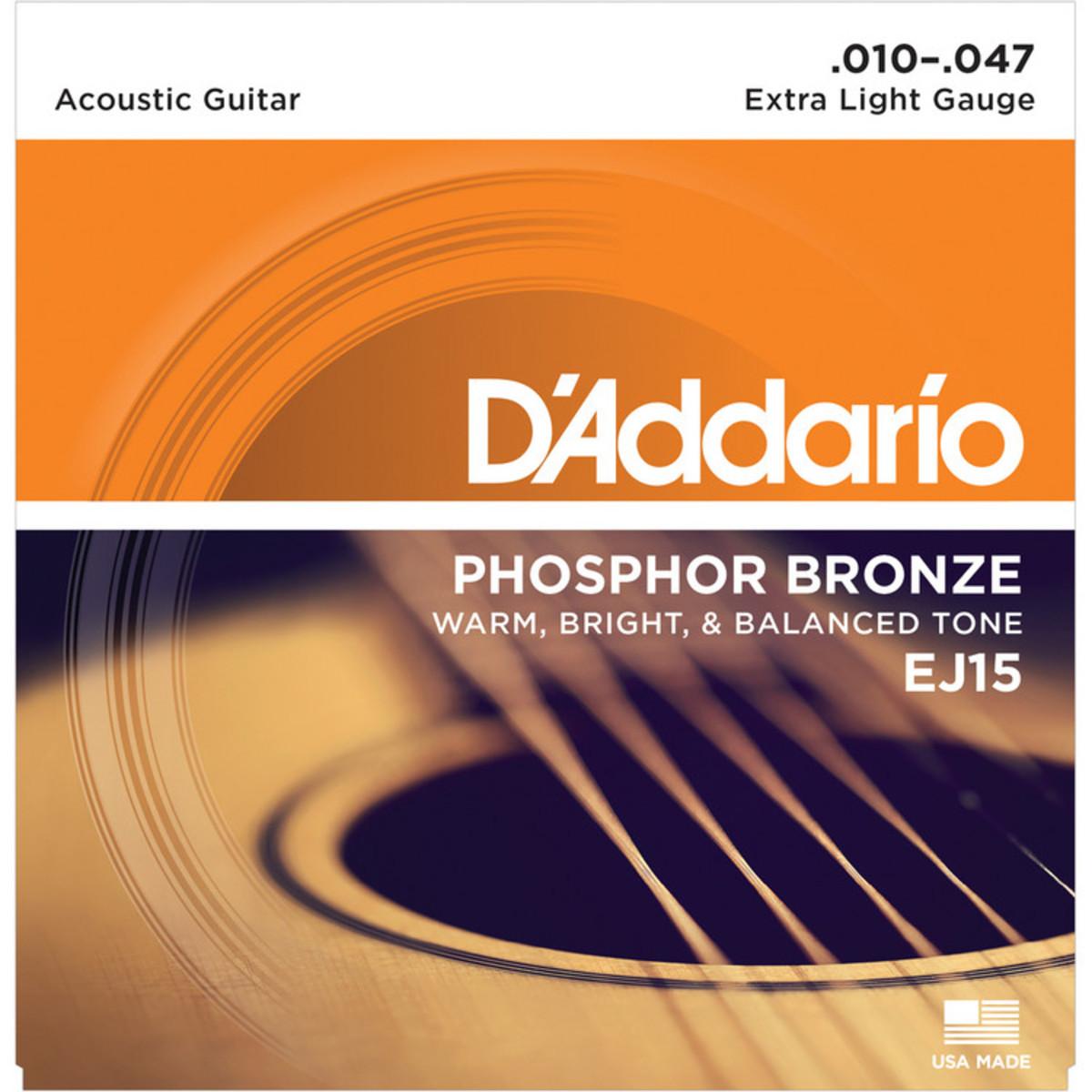 Daddario EJ15 Phosphor Bronze Guitar Strings 10-47