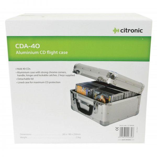 Citronic CDA40 Aluminium CD Flight Case