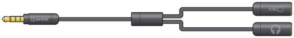 av:link 3.5mm Precision Splitter Lead