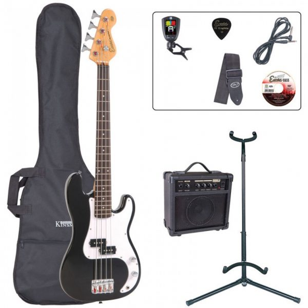 Encore E20 7/8 Bass Guitar Pack Black