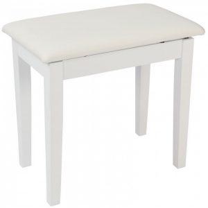 Kinsman Piano Bench with Storage White