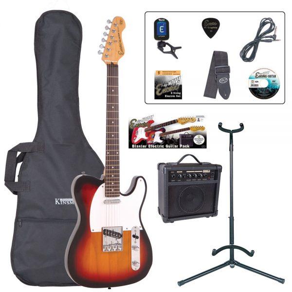 ENCORE Electric Guitar Outfit Sunburst