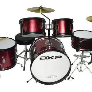 DXP 1046 5 Piece Junior Drum Kit Red