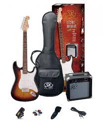 SX SE1 Strat Style Guitar Pack 3/4 Size 3 Tone Sunburst