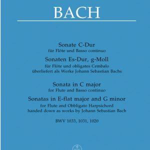 Bärenreiter Bach 3 Sonatas Flute