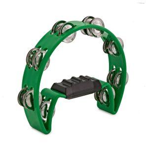 Trax Green Tambourine