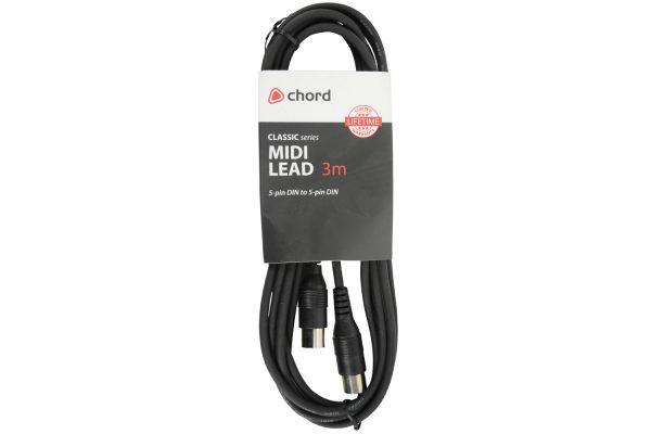 Chord Classic Midi Lead 3 Metre