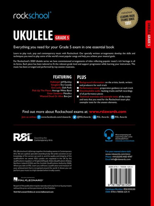 Rockschool Ukulele Grade 5 (2020)