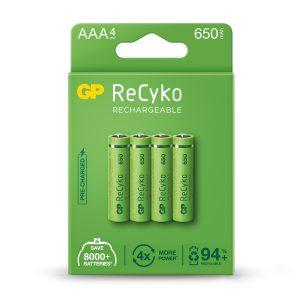 GP Recyko+ 650 AAA NiMH Rechargeable Batteries