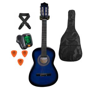 Trax 1/2 Size Junior Classical Guitar Pack Blueburst