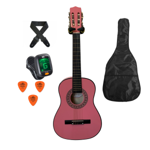 Trax 1/2 Size Junior Classical Guitar Pack Pink