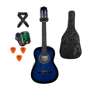 Trax 3/4 Size Classical Guitar Pack Blueburst