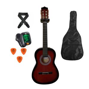 Trax 3/4 Size Classical Guitar Pack Redburst