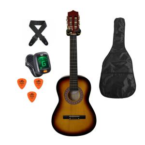 Trax 3/4 Size Classical Guitar Pack Sunburst