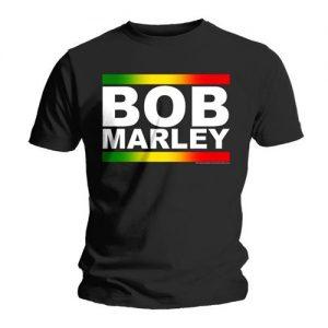Bob Marley Unisex Tee Rasta Band Block Size Medium