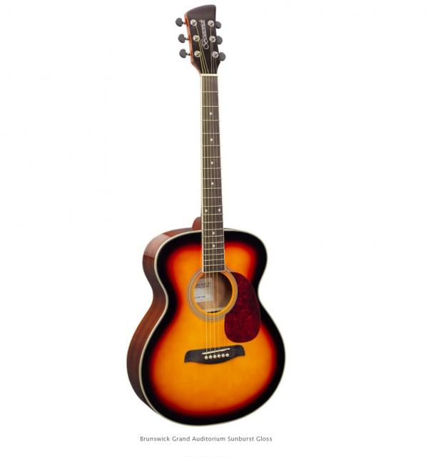 Brunswick BF200SB Folk Guitar Sunburst