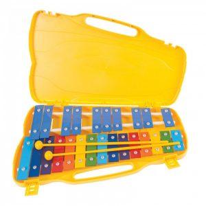 PP World 25 Note Glockenspiel Coloured Metal Keys