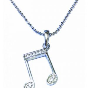 Sterling Silver Pendant Double Quaver MGC Series