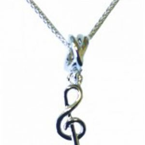 Sterling Silver Pendant Small Treble Clef MGC Series