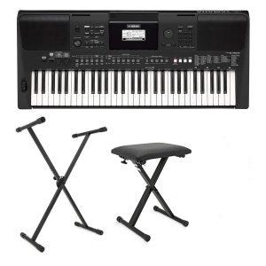 Yamaha PSR E463 Portable Keyboard Bundle