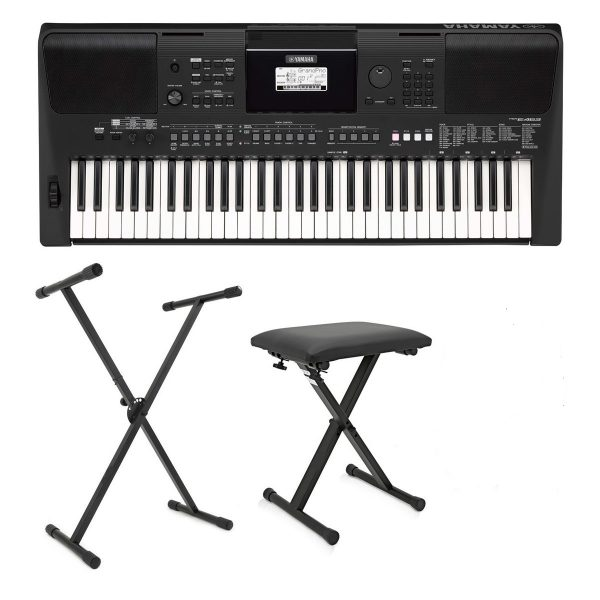Yamaha PSR E463 Portable Keyboard Bundle