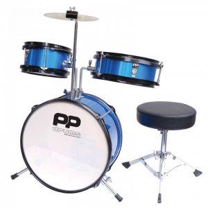 Performance Percussion PP101-BL Junior 3 Piece Drum Kit Blue