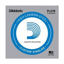 Daddario PL018 Single Plain Steel .018