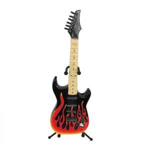 Money Box Electric Guitar Flame