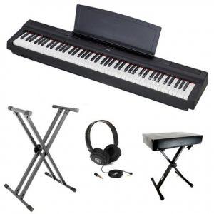 Yamaha P125 Digital Piano Bundle Black