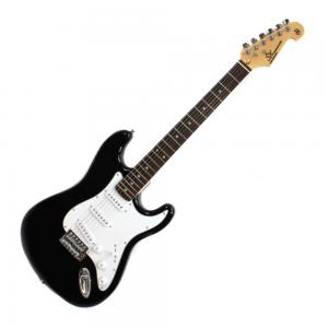 SX SE1 Strat Style Guitar Black