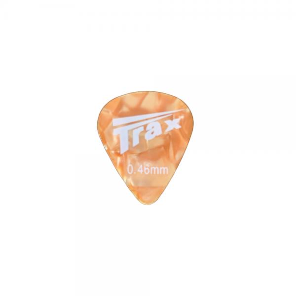 Trax Celluloid Plectrum Light 46mm Orange