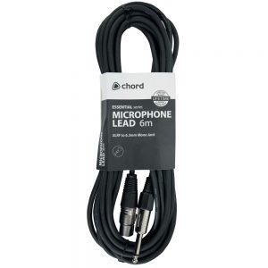 Chord Microphone Lead XLR Female to 6.3mm Jack 6 Metre