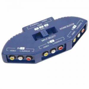 AV:link 3 Way Audio Video Input Selector