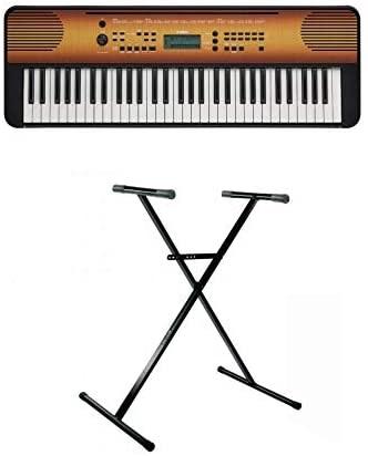 Yamaha PSR E360 Portable Keyboard Maple with Stand