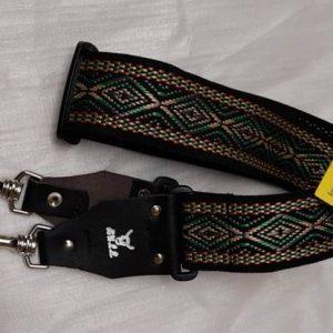 Bull Banjo Strap Silver Tribal Design