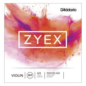 Daddario Zyex DZ310S Violin Set Wound D Medium Tension