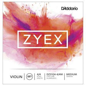 Daddario Zyex DZ310A Violin Set Aluminium Wound D Medium Tension