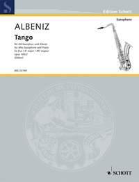 Isaac Albéniz Tango Opus 165/2 (Staber) Alto Saxophone
