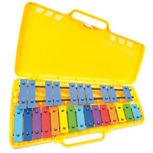Angel AX25N3 G4-G6 25 Note Glockenspiel Yellow Case