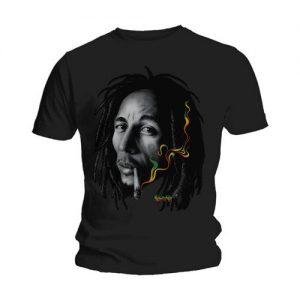 Bob Marley Unisex T Shirt Rasta Smoke X Large