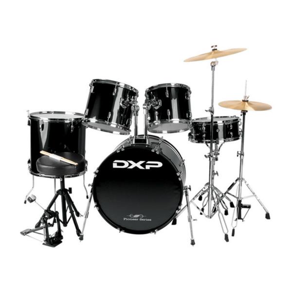DXP JB1910C 5 Piece Beginner Drum Kit Black w/Chrome Hardware