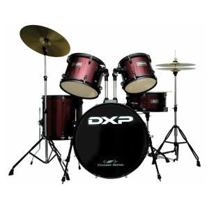 DXP JB1910A 5 Piece Beginner Drum Kit Wine Red w/Black Hardware