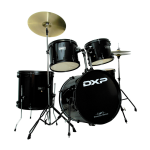 DXP JB1910A 5 Piece Beginner Drum Kit Black w/Black Hardware