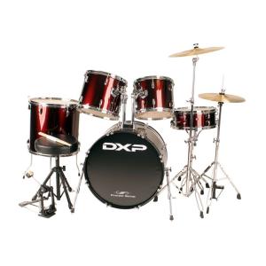 DXP JB1910C 5 Piece Beginner Drum Kit Wine Red w/Chrome Hardware